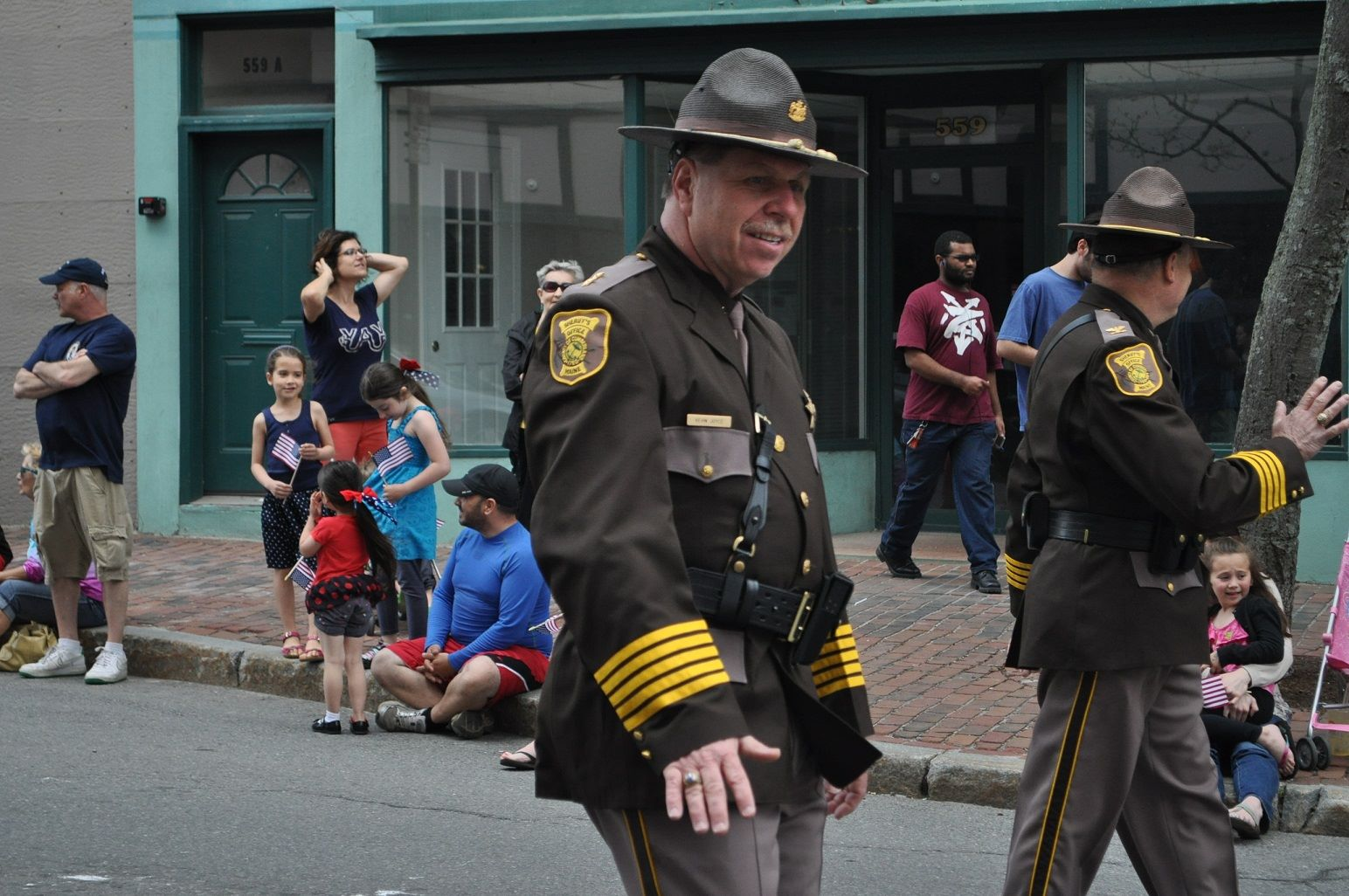 Sheriff and Deputies at Parade