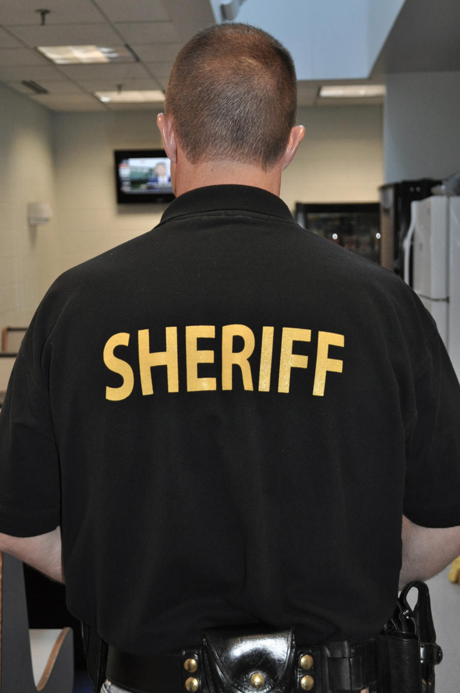 sheriff shirt back
