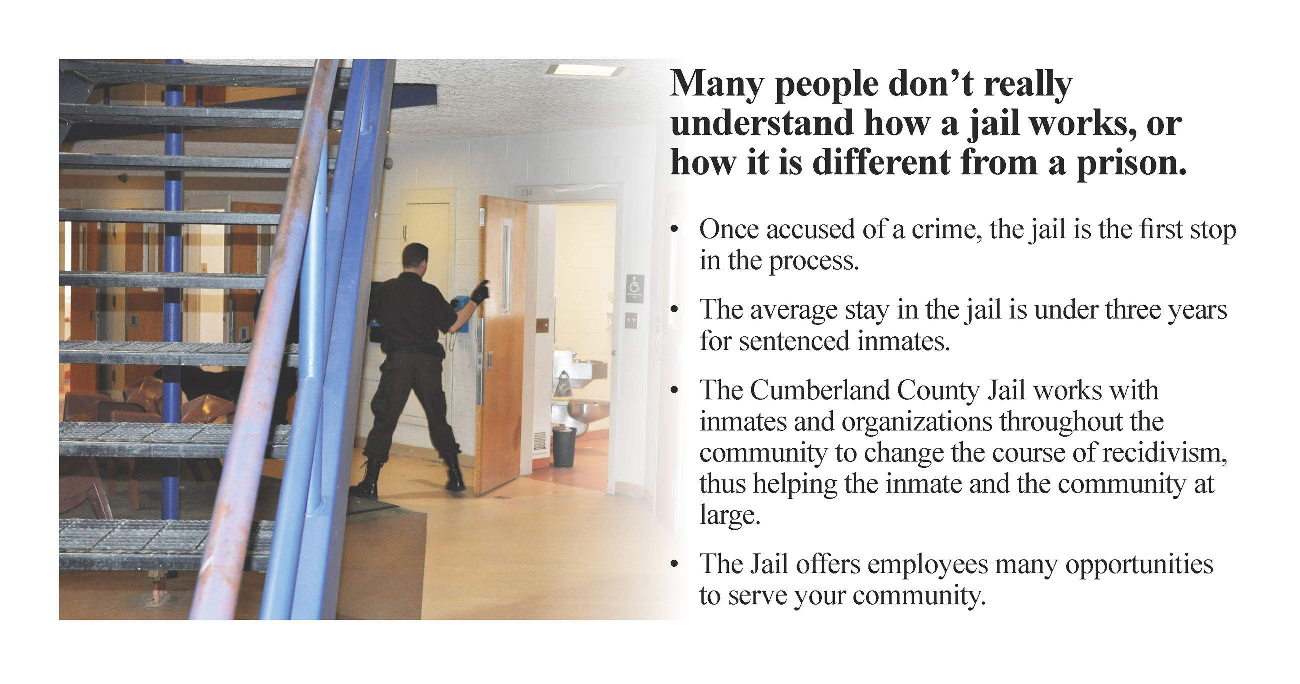 Worker Next to Stairway in Jail and What We Do in a Jail Information