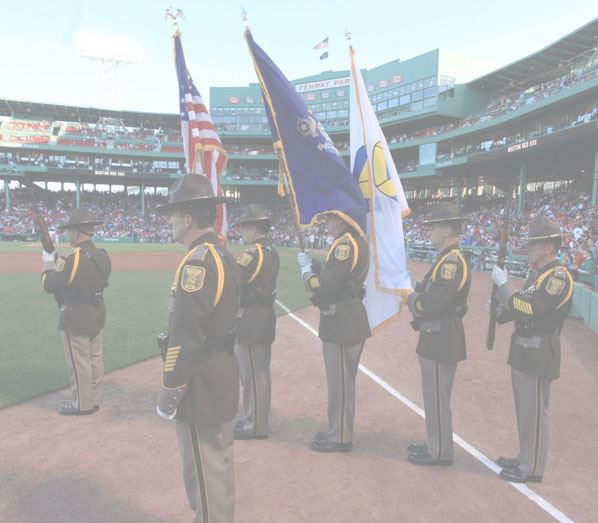 Honor Guard Standing on Field