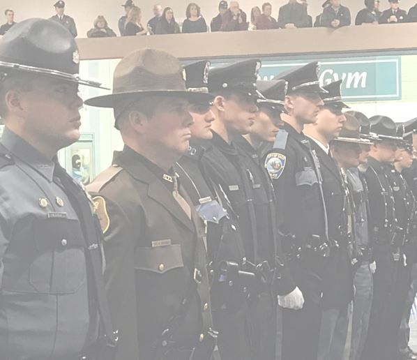 Officers Standing in Line