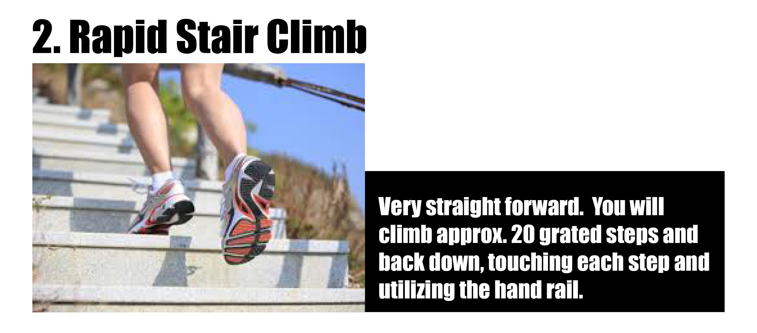 stair climb graphic