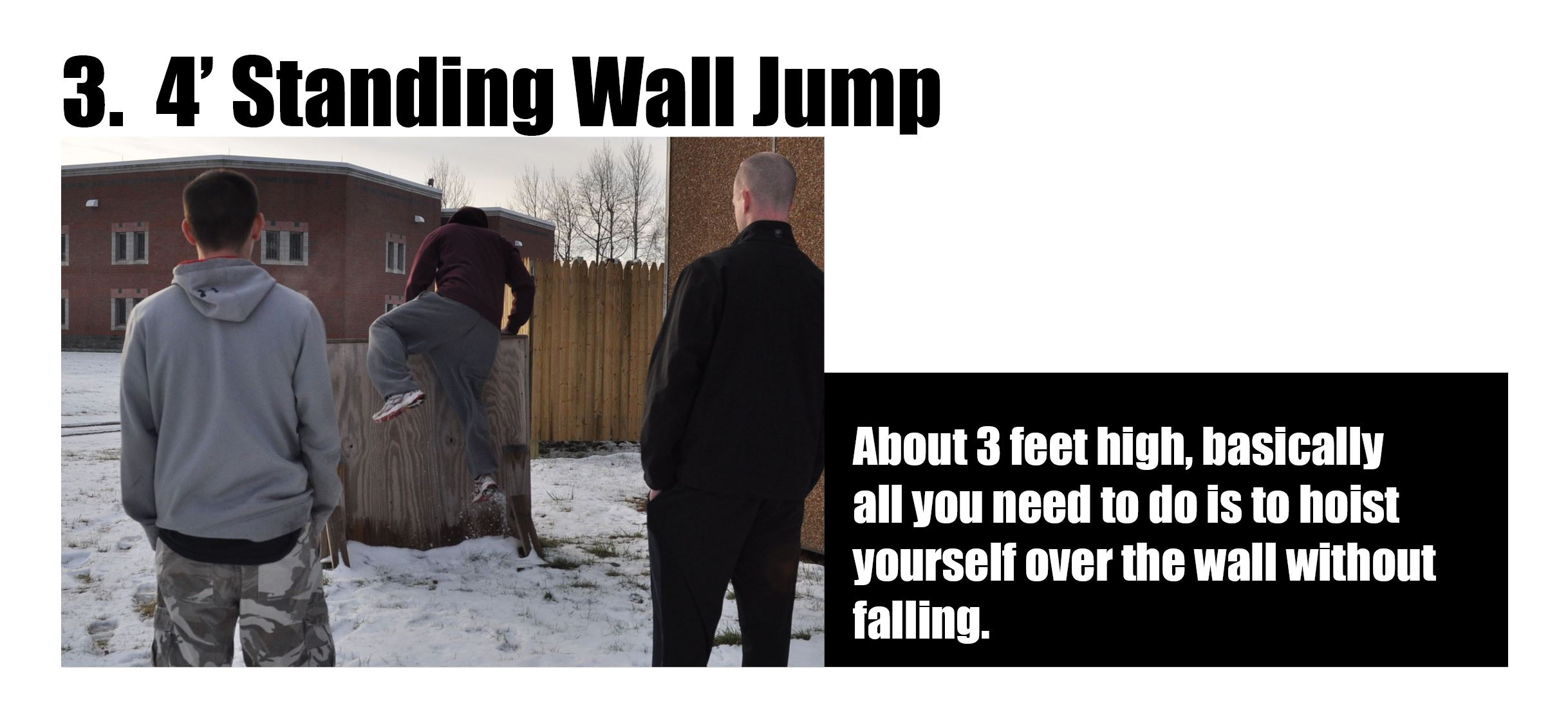 Man Attempting Standing Wall Jump