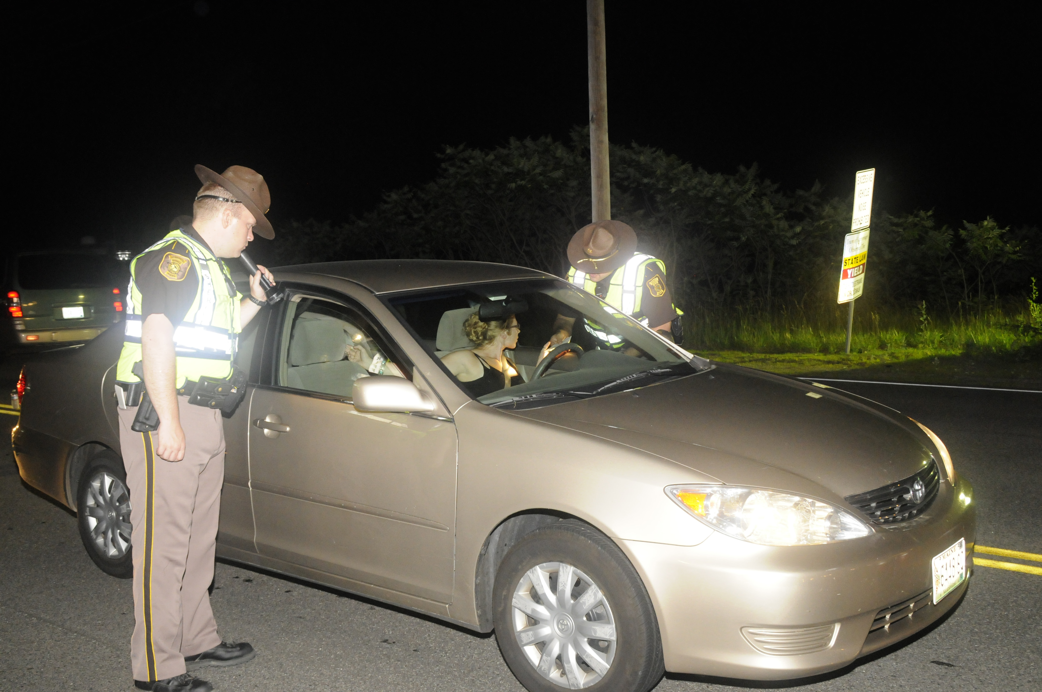 Two Sheriff's Deputies Conducting a Traffic Stop