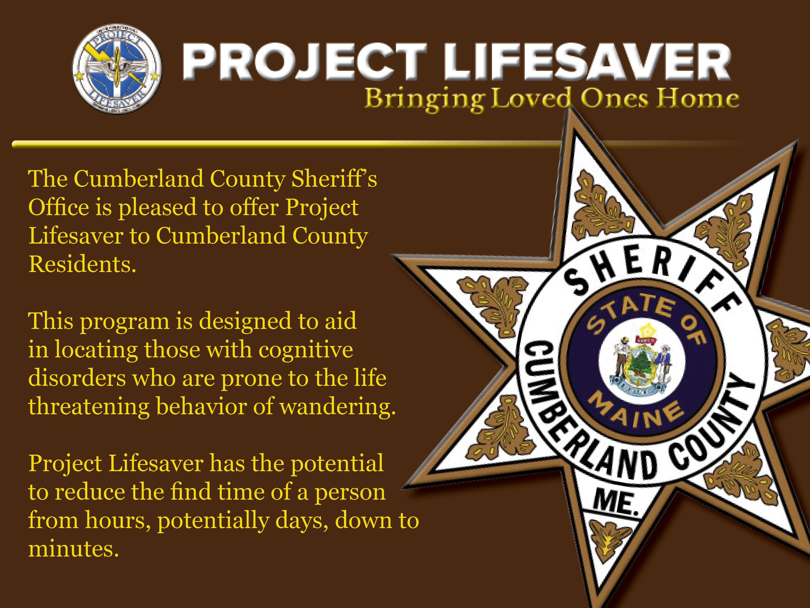 project lifesaver base web page