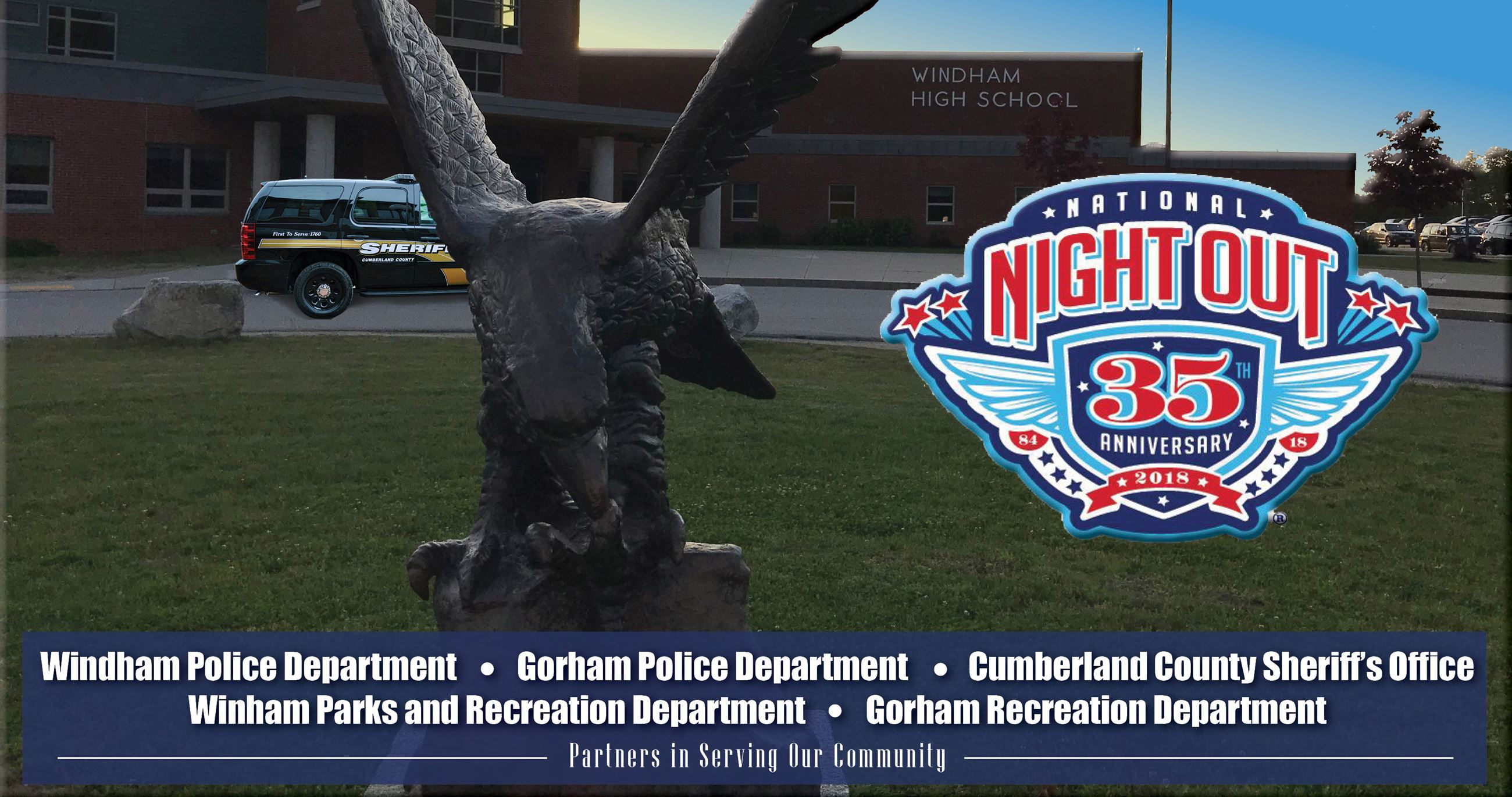 2018 National Night Out 35th Anniversary Banner