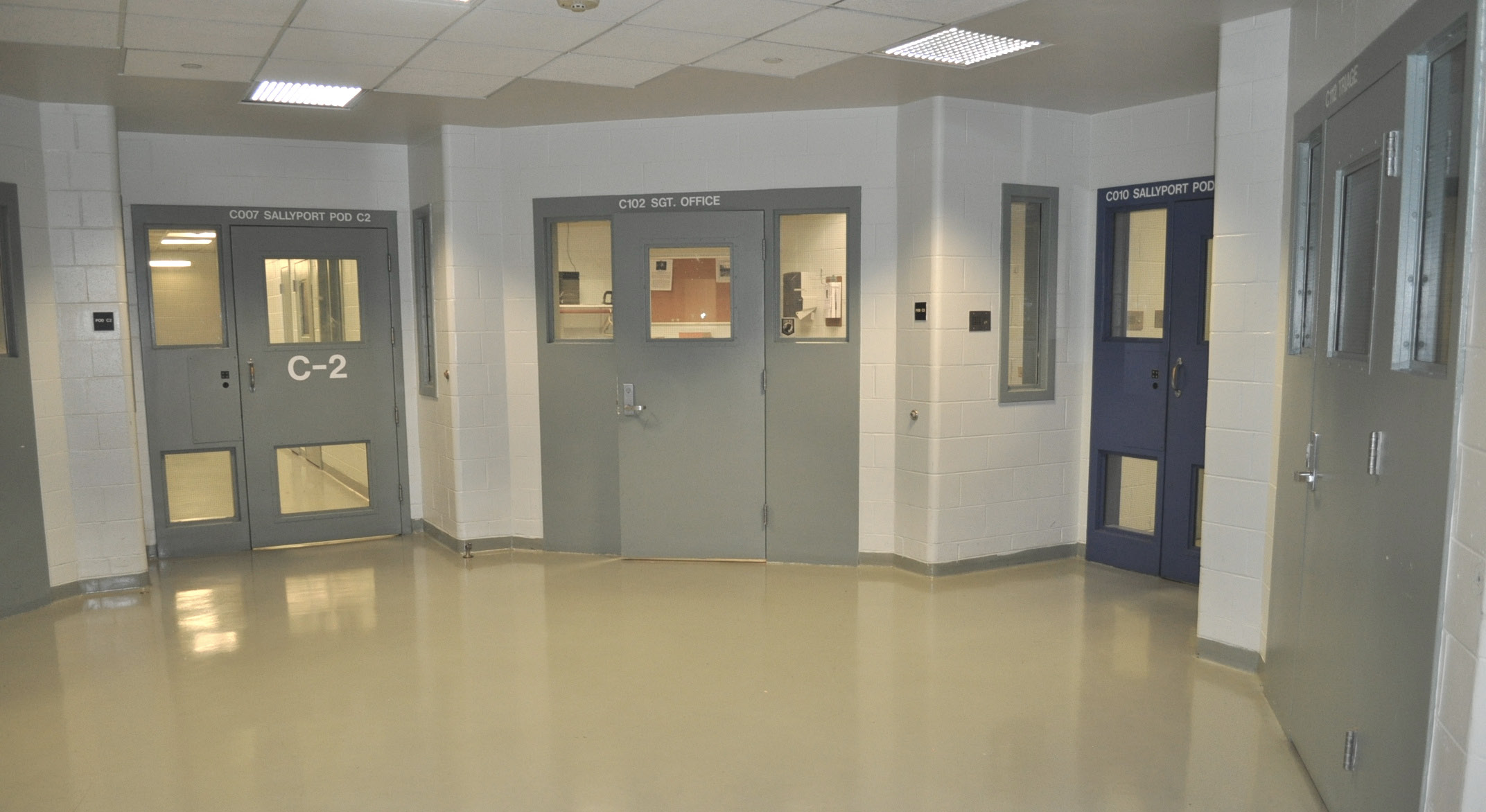 Bail room of the County Jail